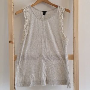 J.Crew Lace and Jersey Tank Top